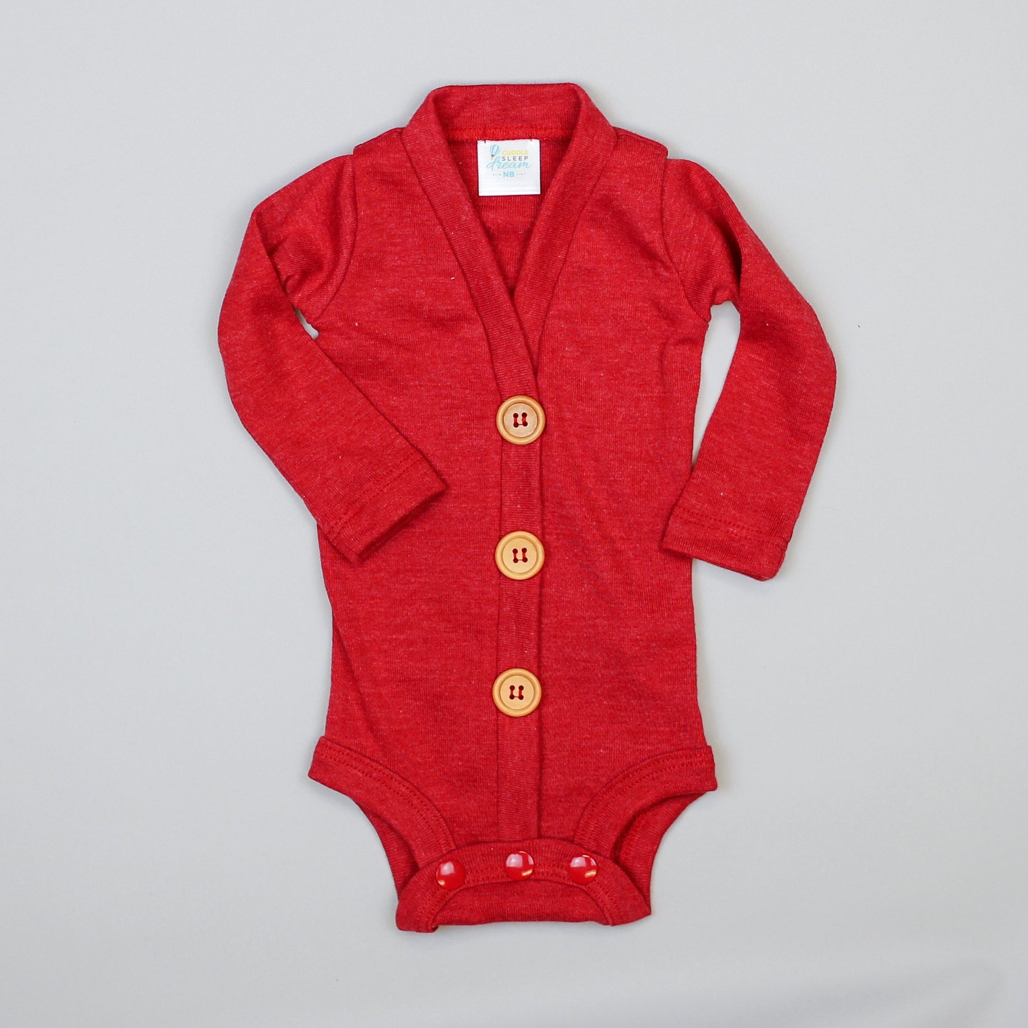Cuddle Sleep Dream Cardigan Heathered Red Cardisuit (Nov 2019)