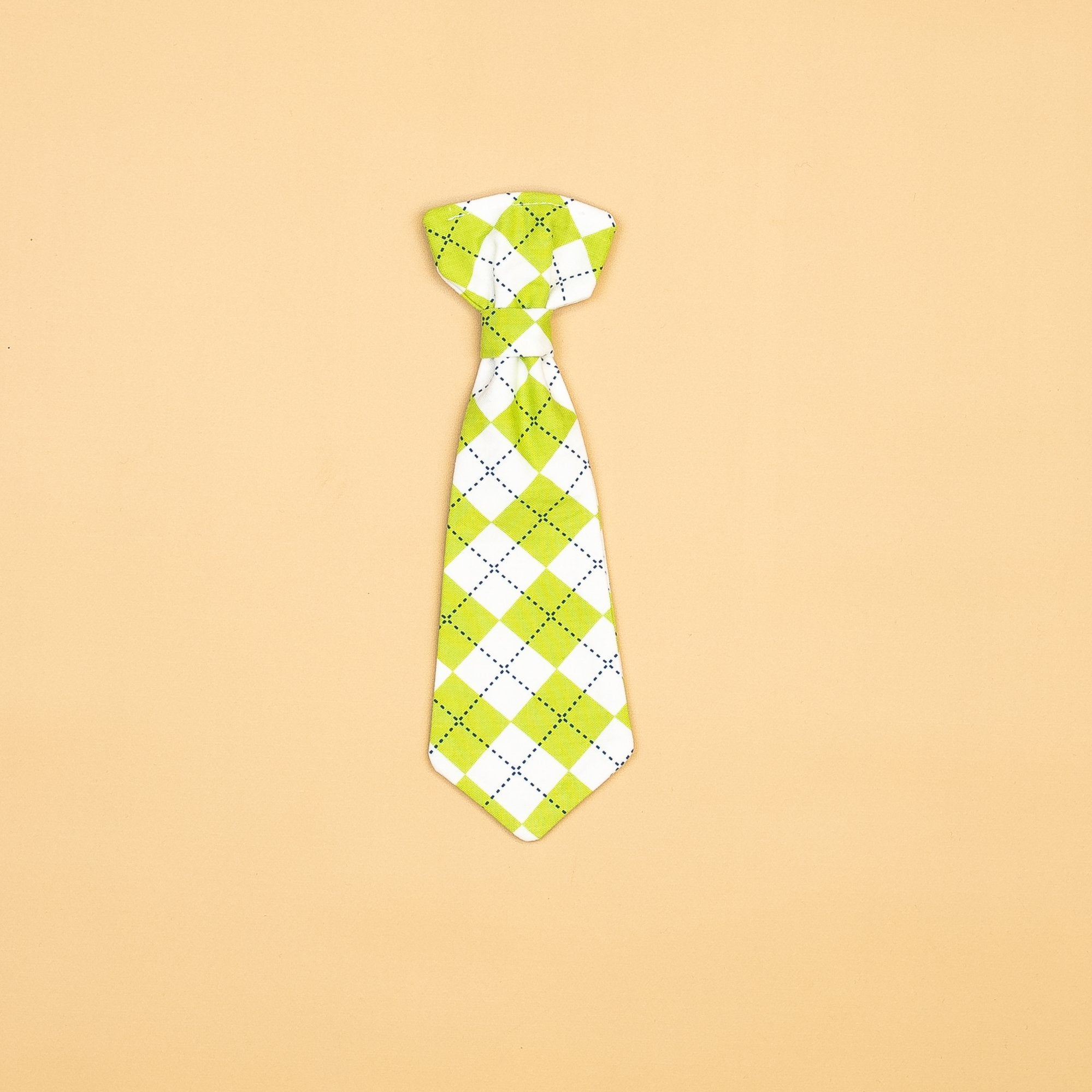 Cuddle Sleep Dream Ties Lime Green Snap-On Tie