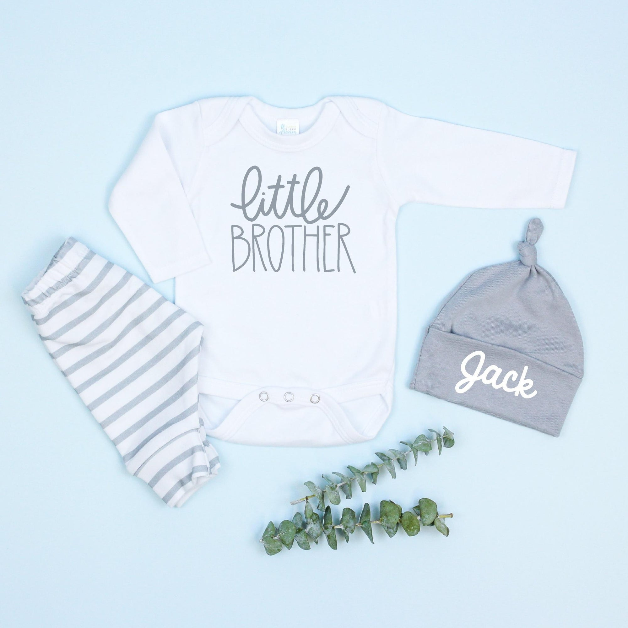 Cuddle Sleep Dream Bundles Little Brother Bundle | Script Style, Gray