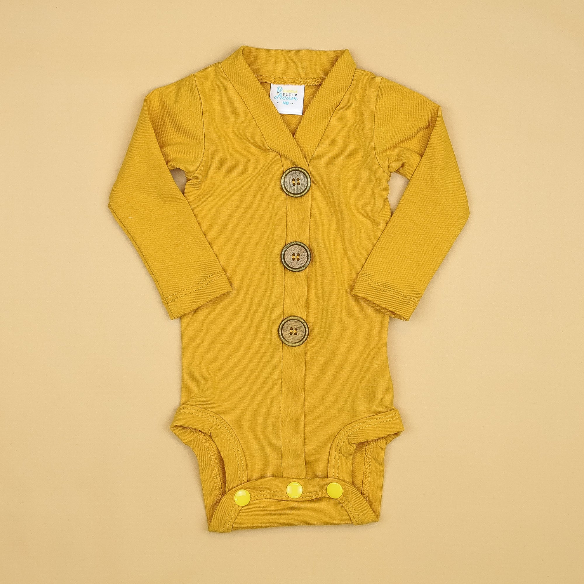 Cuddle Sleep Dream Cardigan Mustard Cardisuit (Aug 2020)