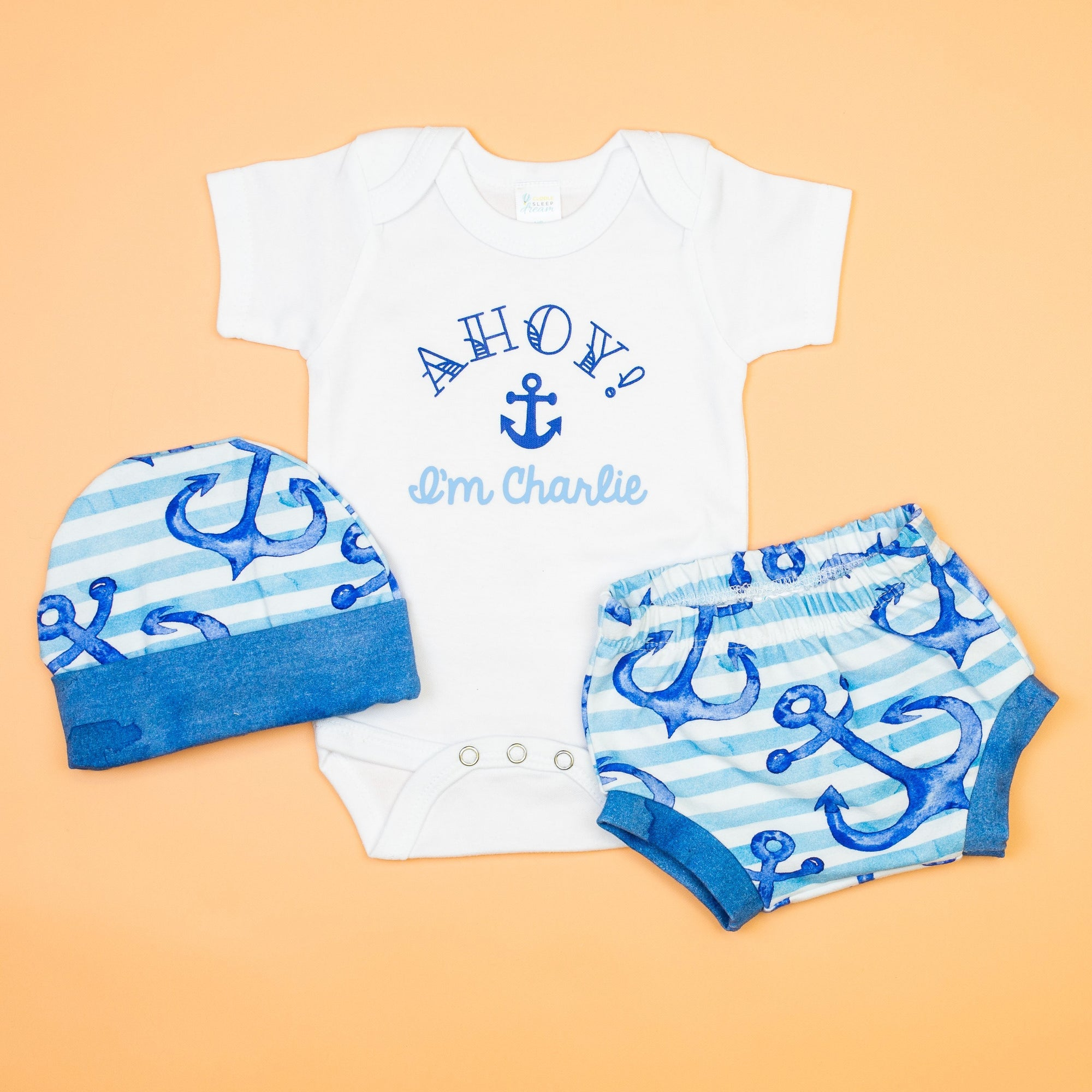 Cuddle Sleep Dream Bundles Nautical Coming Home Outfit for Summer Personalized