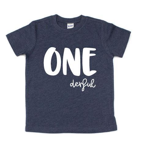 Cuddle Sleep Dream ONEderful 1st Birthday Tshirt - Heathered Navy