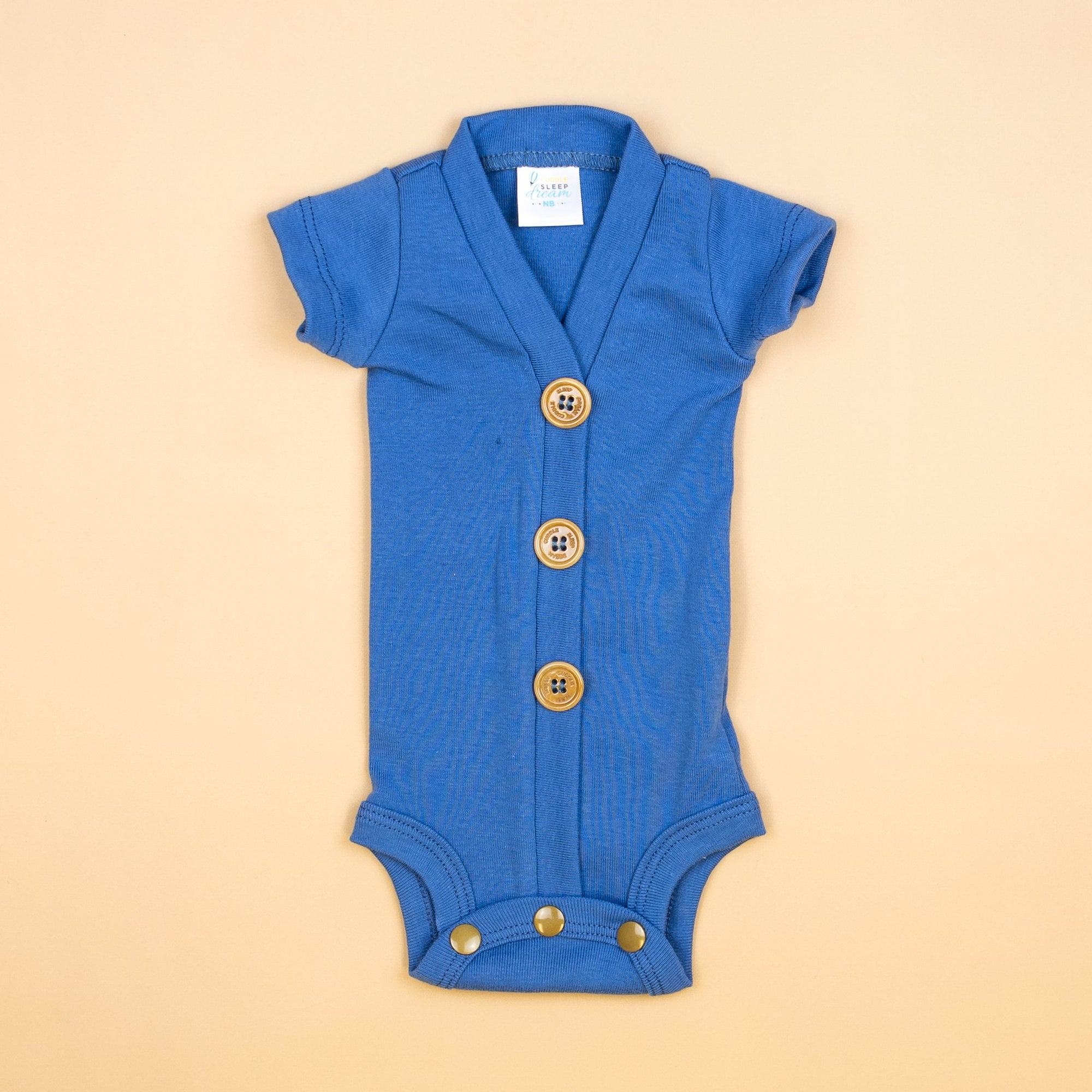 Cuddle Sleep Dream Short Sleeve Rabbit Blue Cardisuit