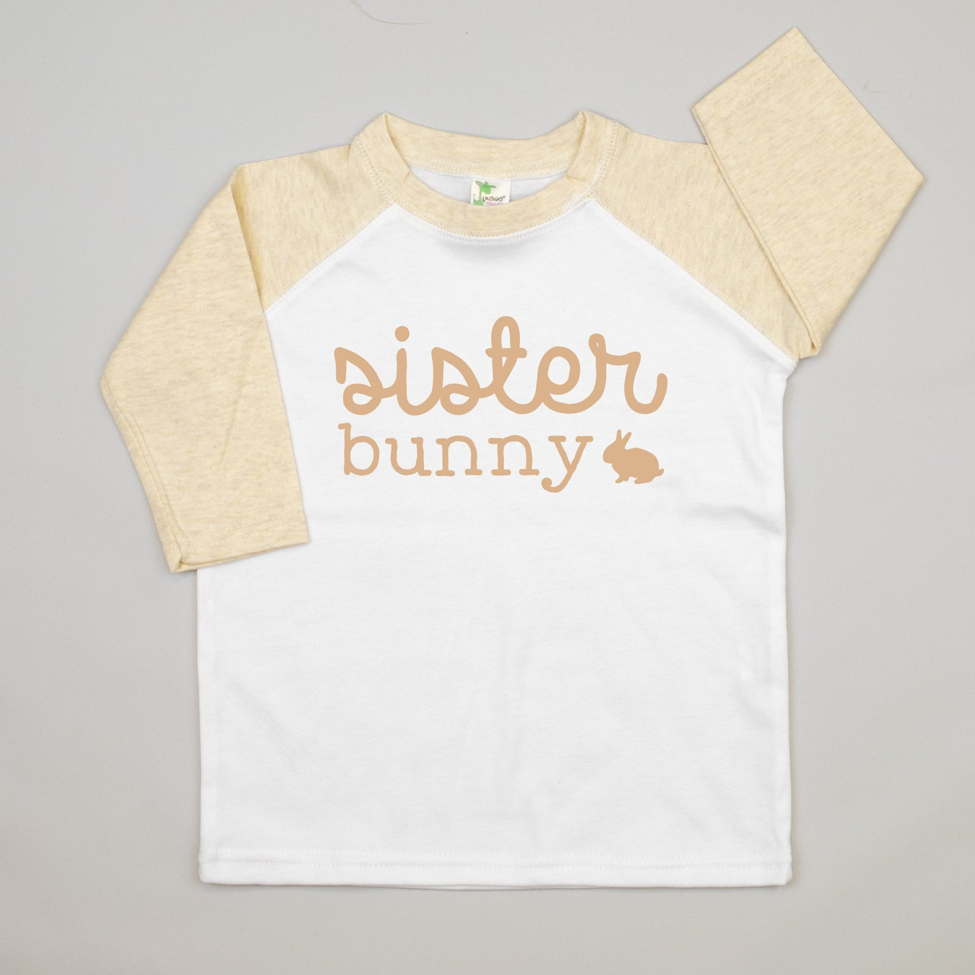 Cuddle Sleep Dream Sister Bunny | Oatmeal Raglan