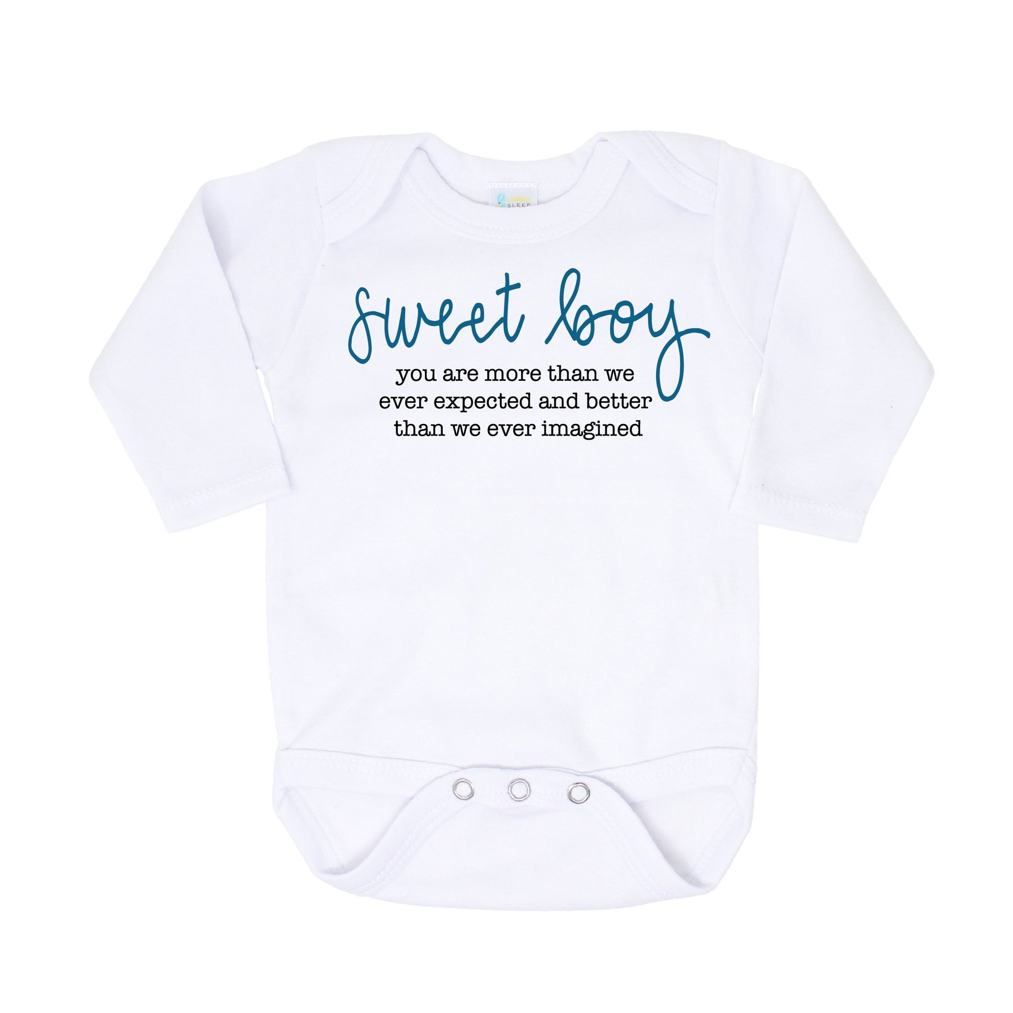 Cuddle Sleep Dream Sweet Boy Onesie