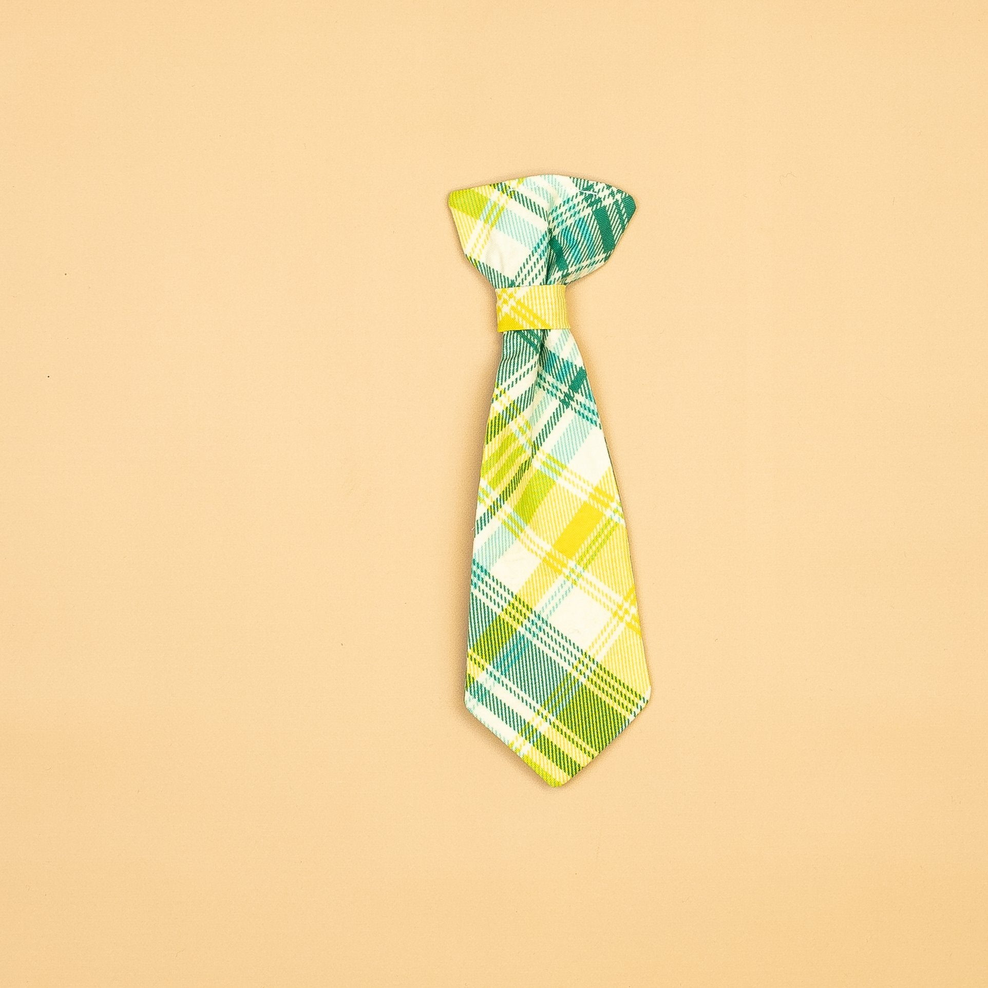 Cuddle Sleep Dream Ties Teal/Yellow Plaid Neck Teal Plaid Snap-On Tie