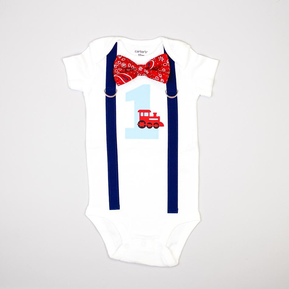 Cuddle Sleep Dream Oh Snap Train 1st Birthday Onesie