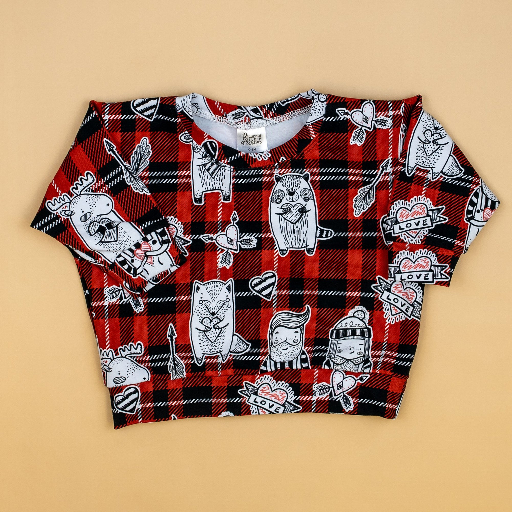 Cuddle Sleep Dream Sweater Valentine Wilderness Plaid Sweatshirt