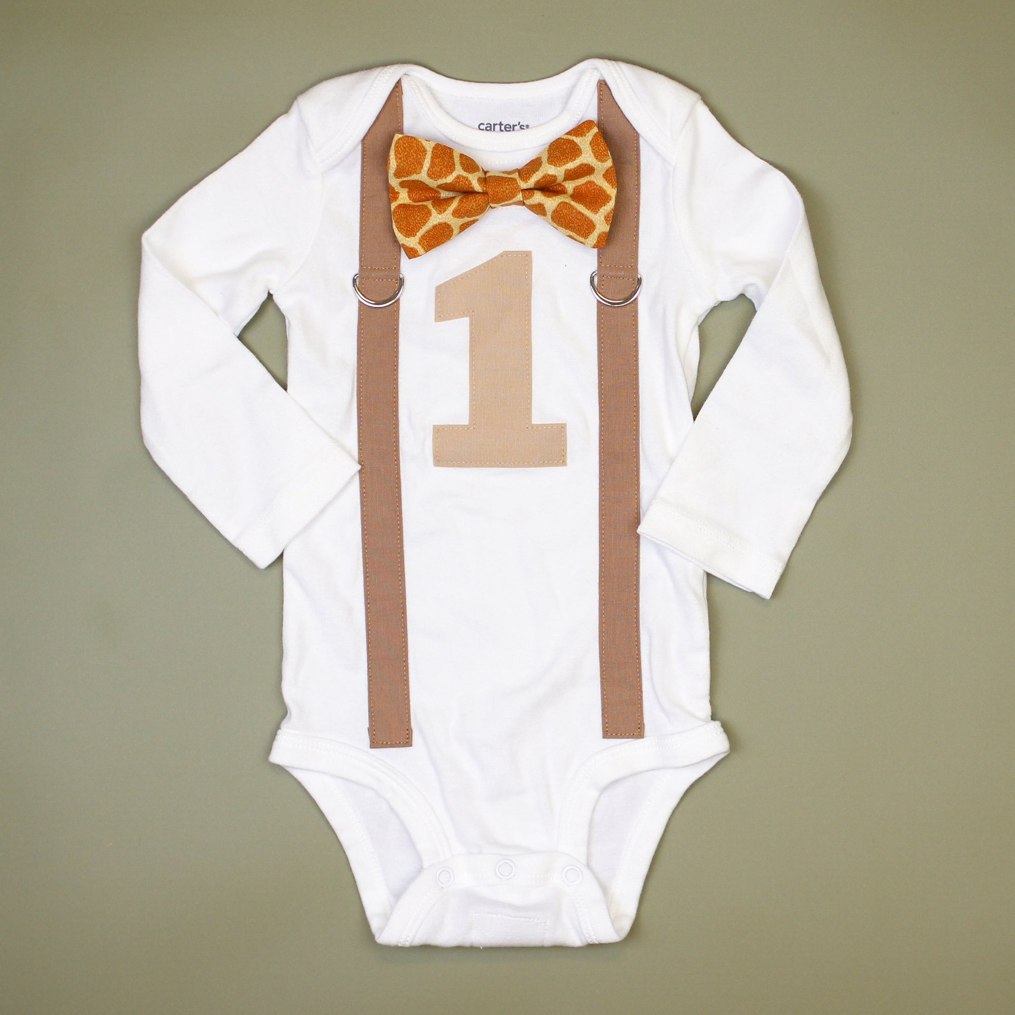 Cuddle Sleep Dream Oh Snap Giraffe 1st Birthday Onesie