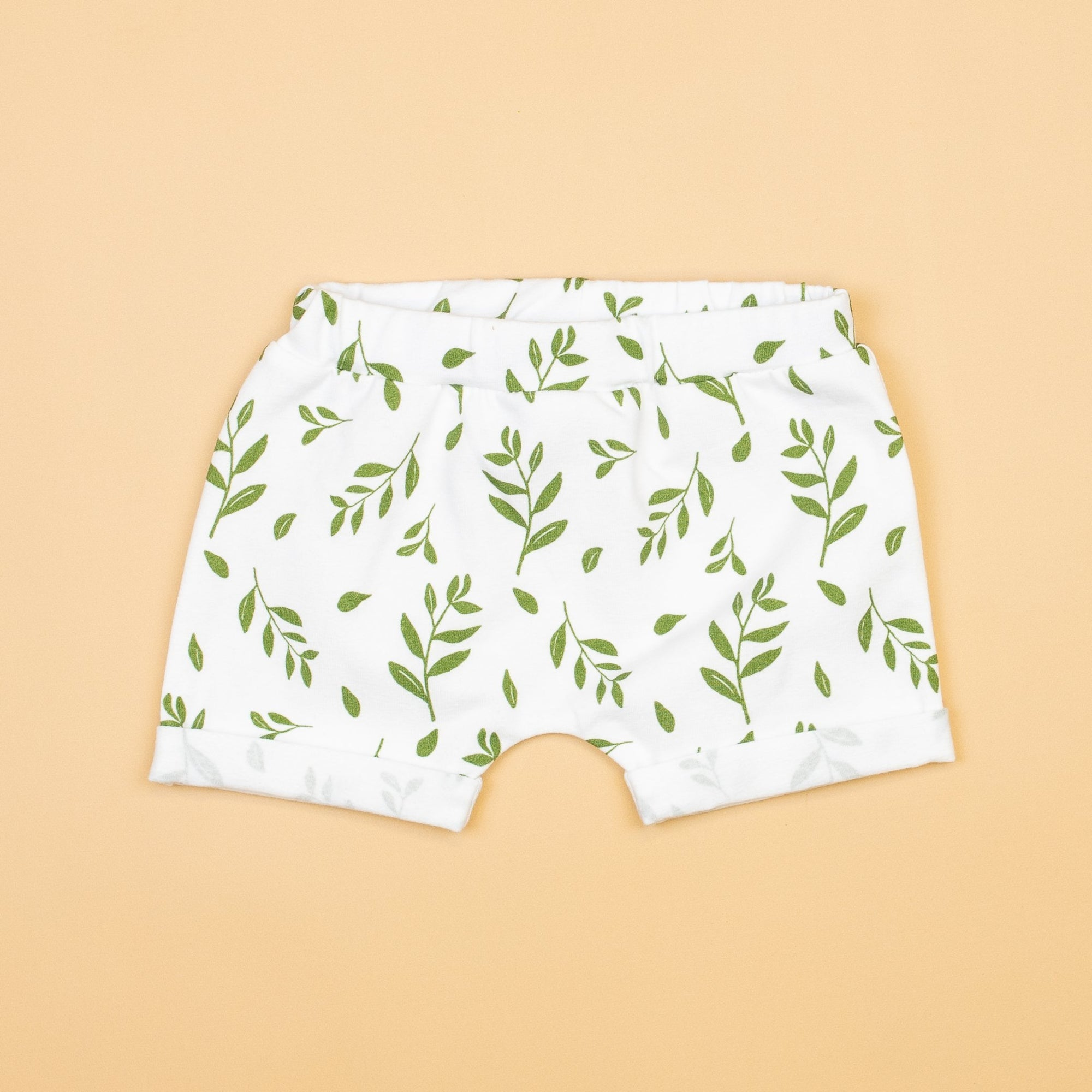 Cuddle Sleep Dream Greenery Rolled Hem Shorts