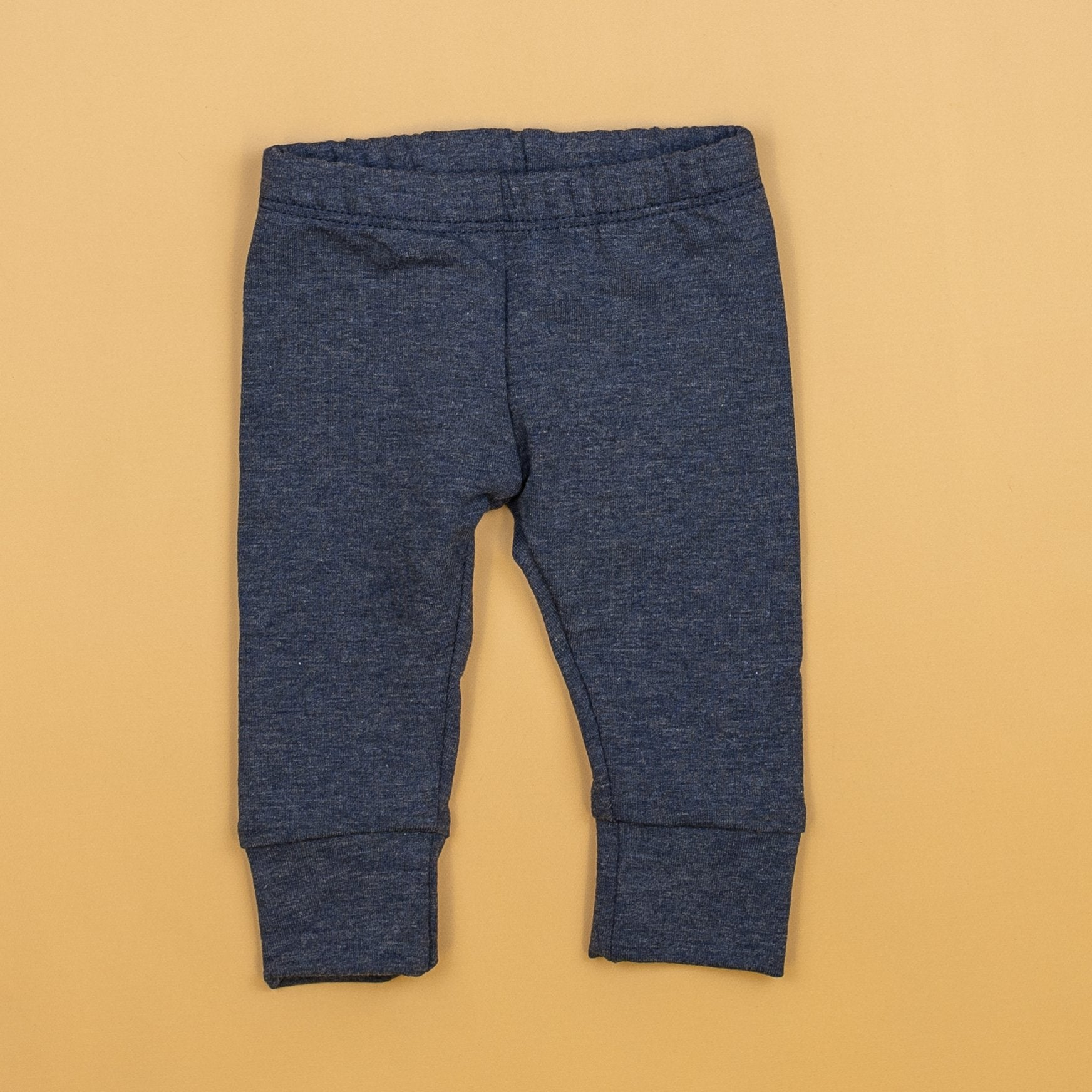 Cuddle Sleep Dream Joggers Heathered Navy French Terry Slim Joggers (NB & 3m only)