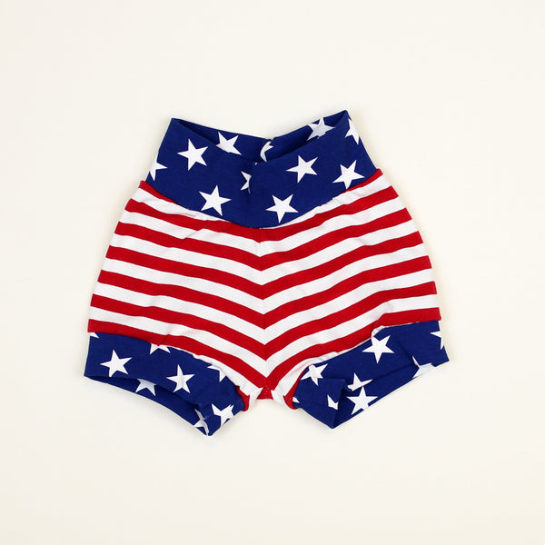 Cuddle Sleep Dream Oh Snap Patriotic Shorts Set - ships after Memorial Day