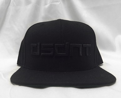 271c62330c290 DSDNT Blacked Out Flat Bill SnapBack