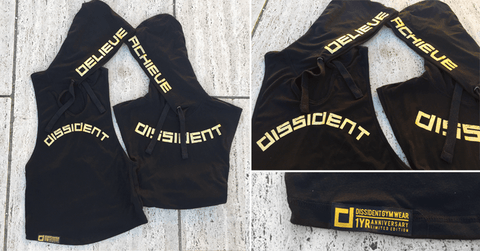 LIMITED EDITION - Dissident Gym Wear Ladies Racerback Tune Out Hoodie