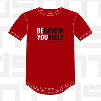 Performance Tee - BElieve in YOUrself - RED