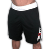 Never Quit. Never Give Up. Training Compression Shorts - Black/White