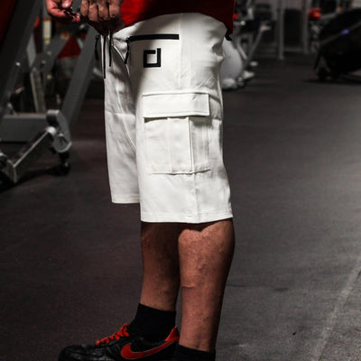 Tactical Jogger Shorts White