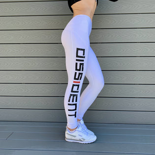 Dissident Gym Wear Contour Push-Up Leggings - WHITE