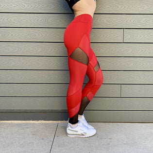 Ladies' DSDNT Aria Leggings - Red