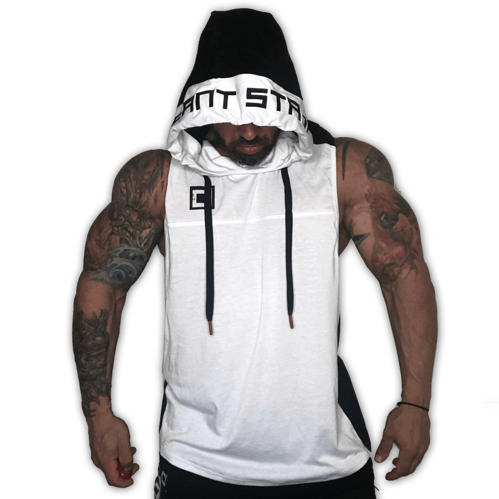 Dual Tone Tune DISSIDENT Out Hoodie - White/Black
