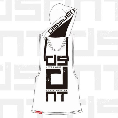 Ladies' Sleeveless Tune Out Hoodie White