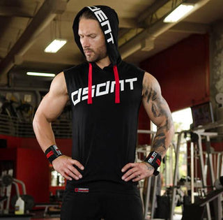 Dissident Gym Wear Sleeveless TUNE OUT Hoodie