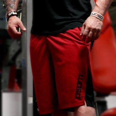 Never Quit Training Shorts Red