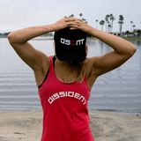 XTENFIT - Dissident Gym Wear Ladies Red Racer Tank