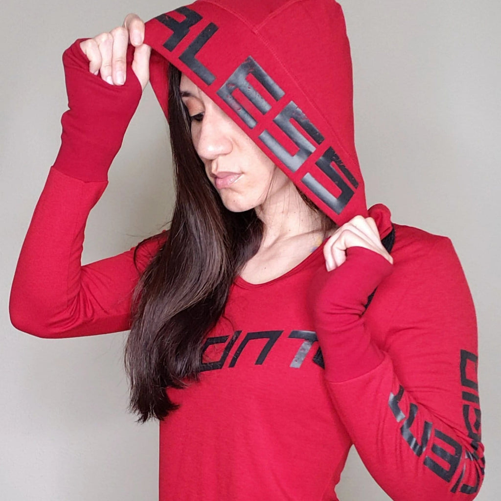 FEARLESS Long Sleeve Tune Out Red - Ladies