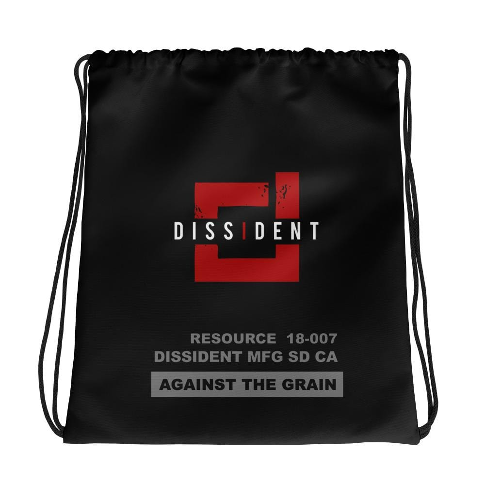 Dissident Against The Grain Drawstring bag