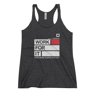 Ladies Work For It Racerback Tank Black