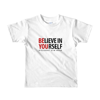 Believe In Yourself Short sleeve kids t-shirt 2-4