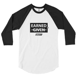 Earned 3/4 sleeve raglan shirt