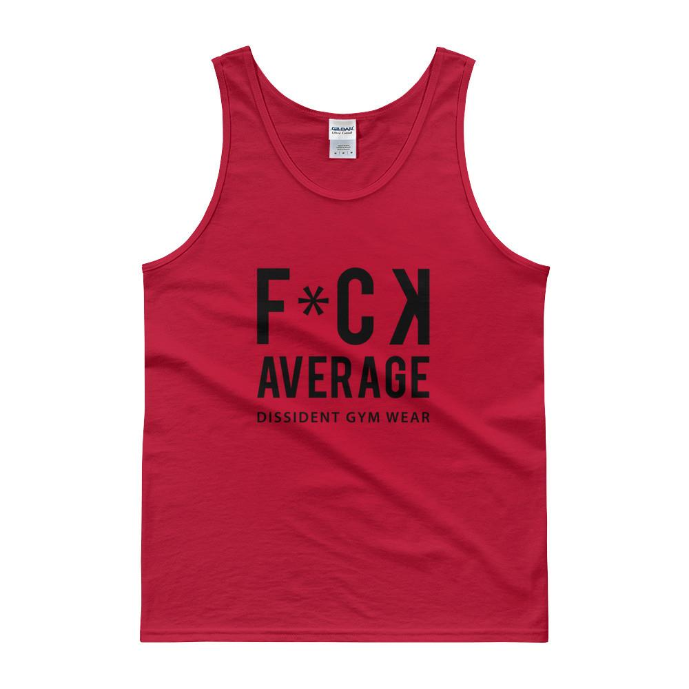 Men's - F*CK AVERAGE - Tank Top - Red