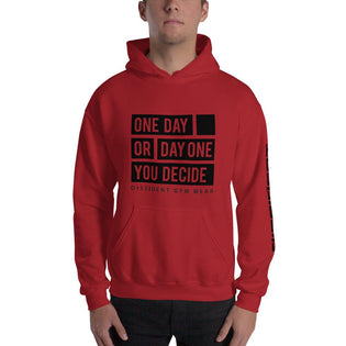 One Day Or Day One Hoodie - Red