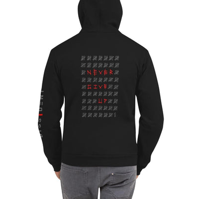 Never Give Up. Hoodie sweater