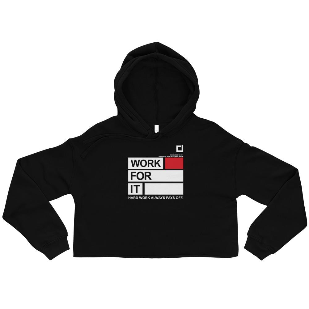 Work For It Crop Hoodie