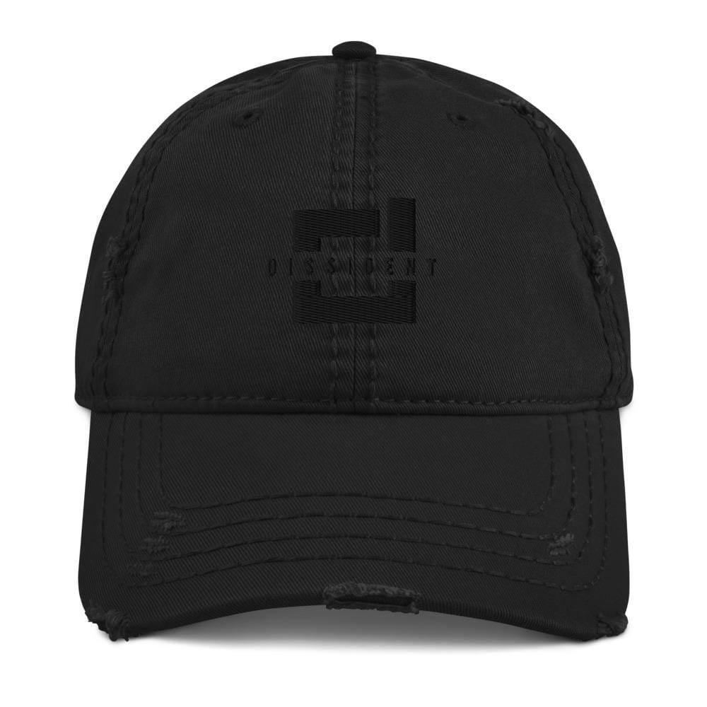 DSDNT Distressed Low Profile Hat Black