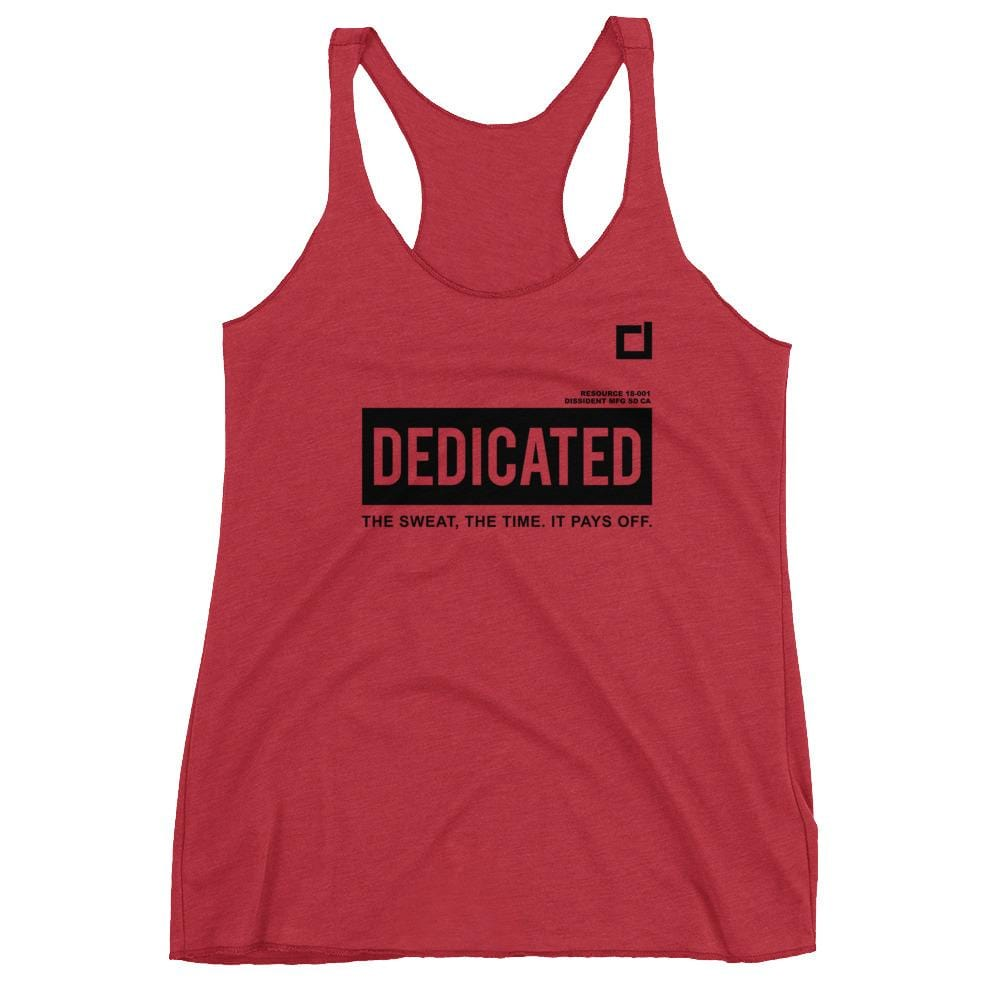 Dedicated Racerback Tank Red