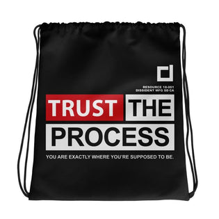 Trust The Process Drawstring bag