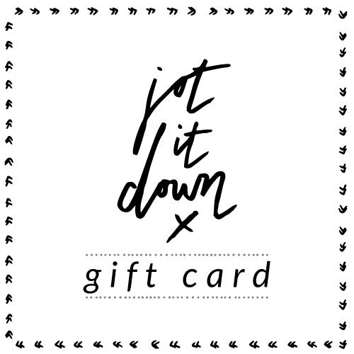 Jot it Down Gift Card