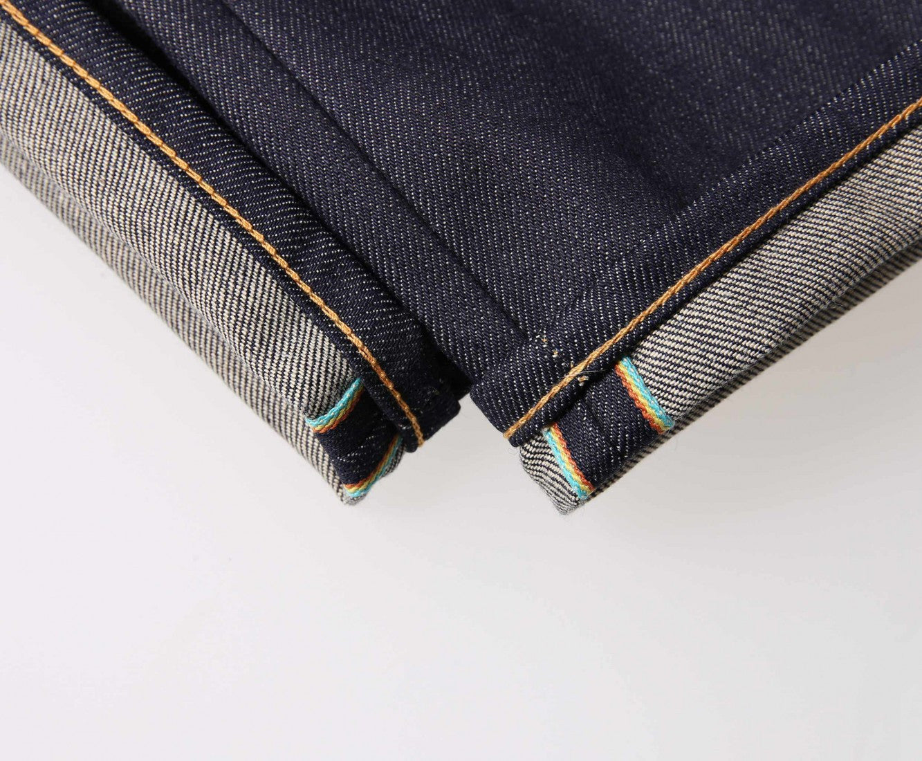"Edwin Europe ED-45 Loose Tapered Jeans ""63 Rainbow Selvage Denim"" - Unwashed-Denim-Navy Selected Shop"