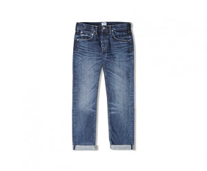 "Edwin Europe ED-55 Regular Tapered Jeans ""Red Listed Selvage Denim"" - Contrast Clean Wash-Denim-Navy Selected Shop"