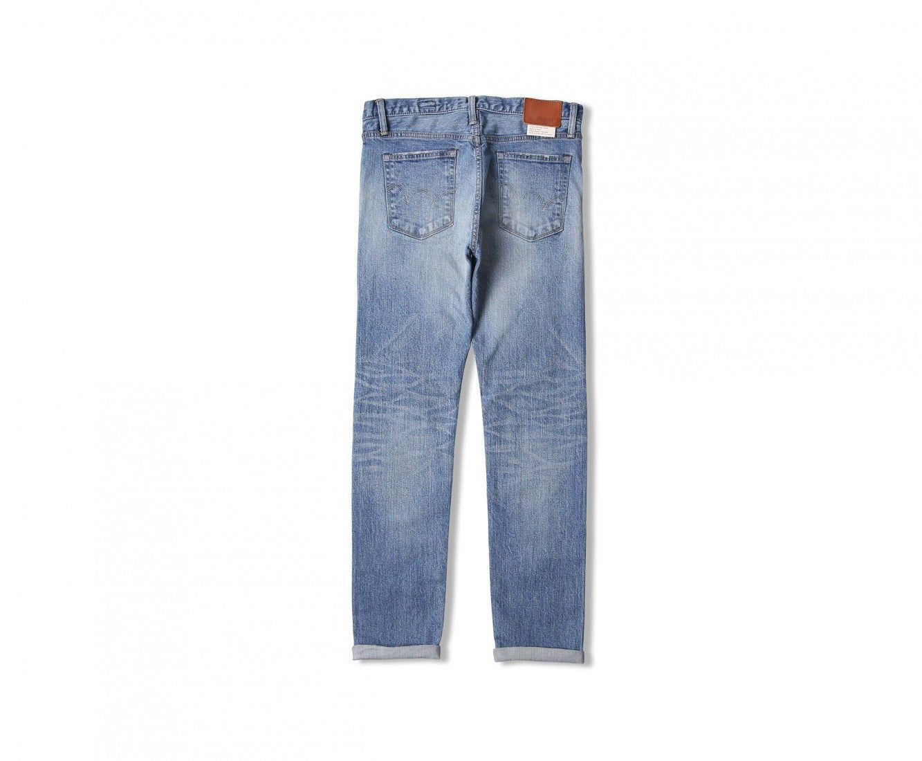 "Edwin Europe ED-80 Slim Tapered Jeans ""Nihon Menpu Japan Selvage Stretch Fabric"" - Light Used-Denim-Navy Selected Shop"