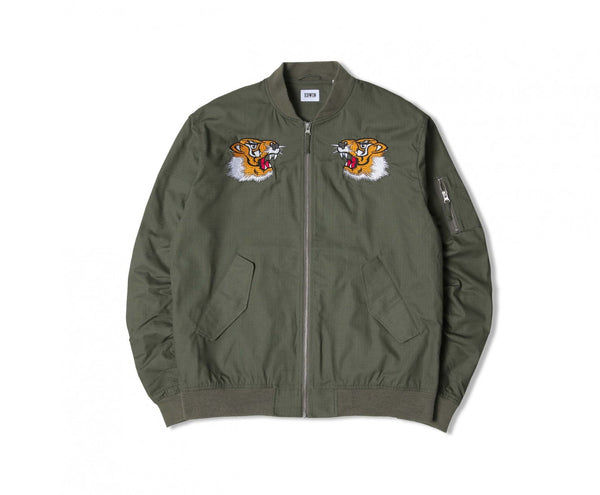 Edwin Europe Flight Souvenir Jacket - Military Green-Denim-Navy Selected Shop