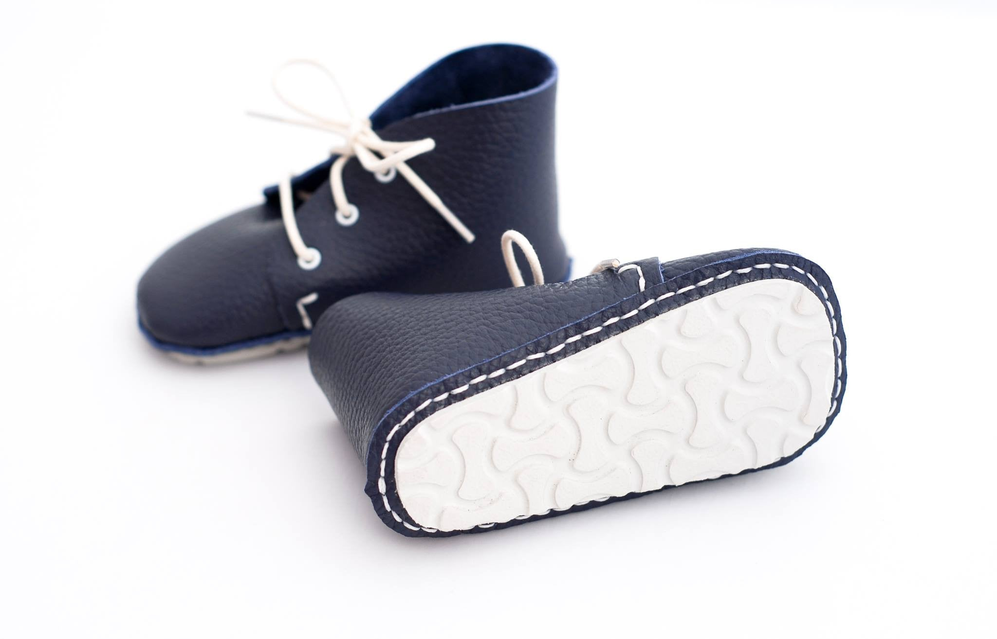 "First Baby Shoes AKI model - Navy ""Made in Poland""-Baby Shoes-Navy Selected Shop"