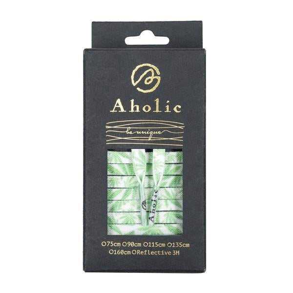 Aholic Hemp Pattern Shoelaces (大麻葉鞋帶) - Glow In The Dark(夜光紀念款)-Shoelaces-Navy Selected Shop