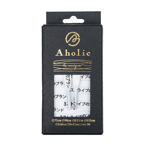 Aholic Japanese Word Shoelaces (三葉日字鞋帶) - White/Black (白黑)-Shoelaces-Navy Selected Shop