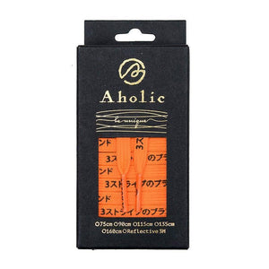 Aholic Japanese Word Shoelaces (三葉日字鞋帶) - Orange/Black(橙黑)-Shoelaces-Navy Selected Shop