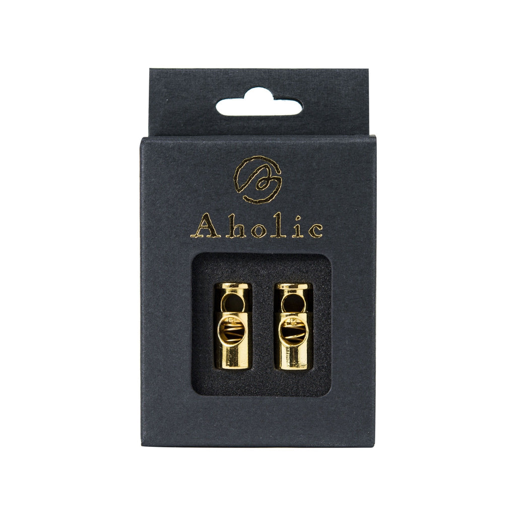 Aholic Lace Lock (經典彈簧扣) - Gold (金)-Shoelaces-Navy Selected Shop